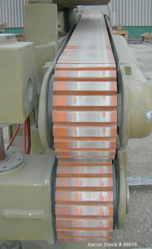 "USED: Royal Machine belt puller, model 056. (2) 8"" wide x 8' long contact areas. Top belt motorized adjustment, bottom belt ..."