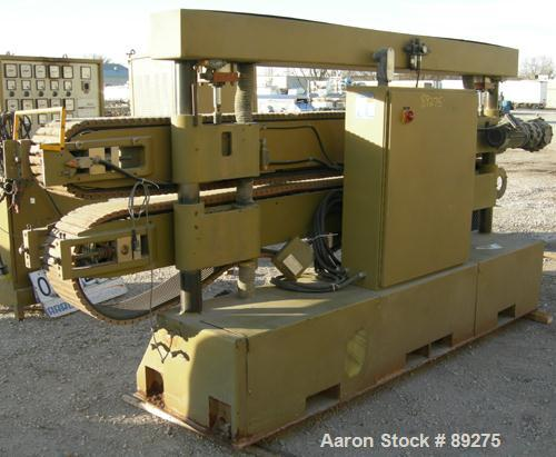 """Used- Royal Machine Cleated Belt Puller, Model 067. (2) 10"""" wide x 12' long contact area. Pneumatically adjustable belts. Ea..."""