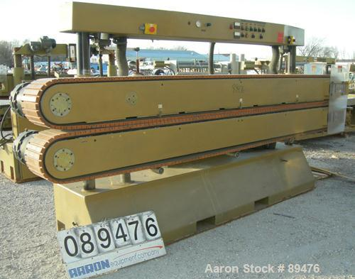 """USED: Royal Machine cleated belt puller, model 067. (2) 10"""" wide x 12' long contact area. Pneumatically adjustable belts. Ea..."""