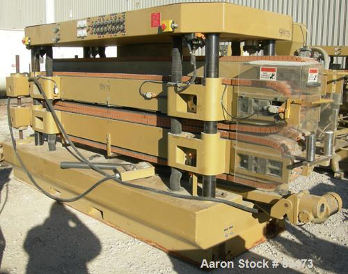"""USED: Royal Machine dual lane cleated belt puller, model 069. (2) Lanes each with (2) 8"""" wide x 12' long contact area. Pneum..."""