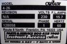 Used- Conair Belt Puller, Model 4-26. (2) manually adjustable rubber belts, 3 3/4