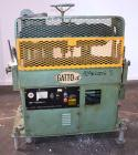 Used- Gatto Cat-A-Puller, Model 207-3PC. (2) 3 Wide x 28 long contact cleated rubber belts. Manually adjustable 5 belt openi...