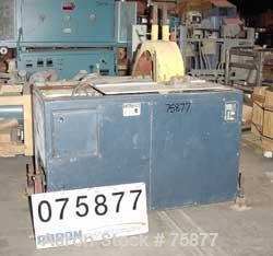 """USED: Traveling pipe saw.  18"""" diameter blade. Driven by a 3 hp motor. Pnuematic table travel."""