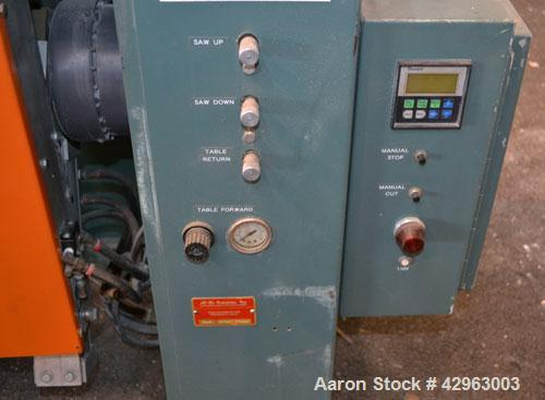 """Used- Al-Be Industries Upacting Traveling Table Saw, Model AB14S. Approximately 14"""" diameter blade. Capacity up to 4'' diame..."""