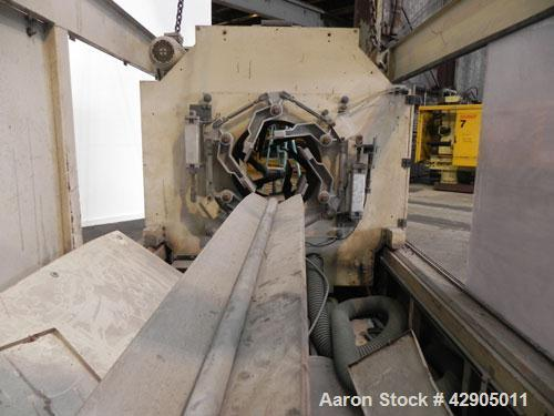 Used- Battenfeld Extrusionstechnik Planetary Saw, Model STU 450 EZ, Carbon Steel. Approximate 4 cuts per minute. Separable a...