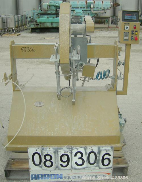 "Used- Becz Machine Traveling Cut Off Chop Saw, Model 101. Approximate 14"" diameter blade, pneumatically adjustable hold down..."