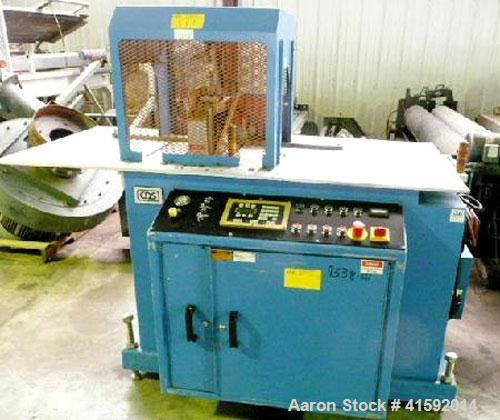 "Used- CDS Traveling Cut Off Saw, Model CSS 6.5-13. Up acting blade, 26"" servo traveling table. Top hold down. Profile cross ..."