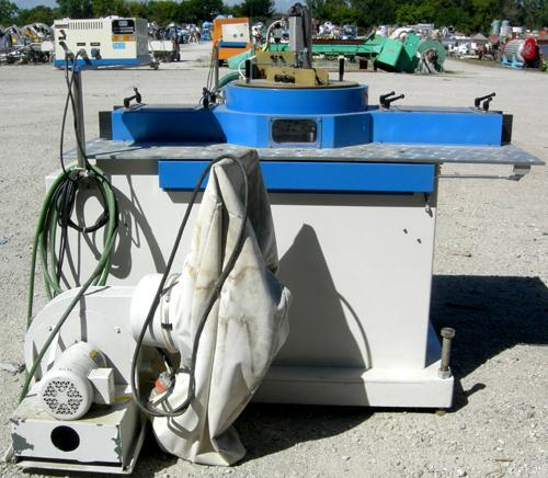 """Used- Custom Downstream Systems Upacting Traveling Miter Saw, Model CTMS-6.5-13. Approximately 14"""" diameter blade, pneumatic..."""