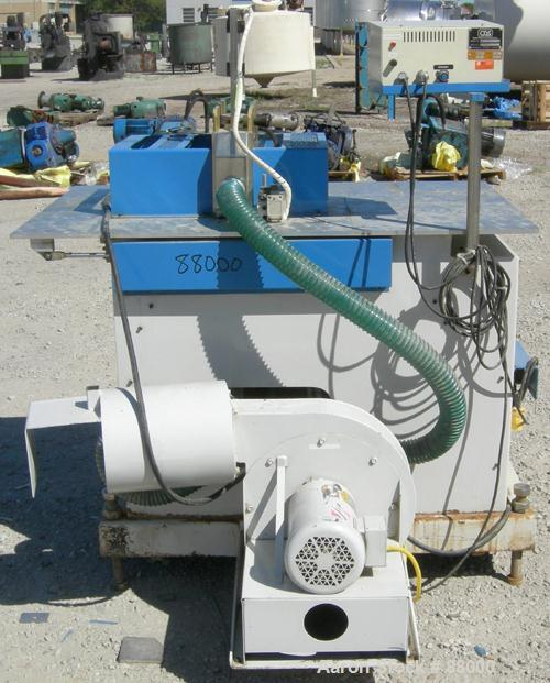"""Used- Custom Downstream Systems Upacting Traveling Miter Saw, Model CTS-6.5-13. Approximately 14"""" diameter blade, pneumatica..."""