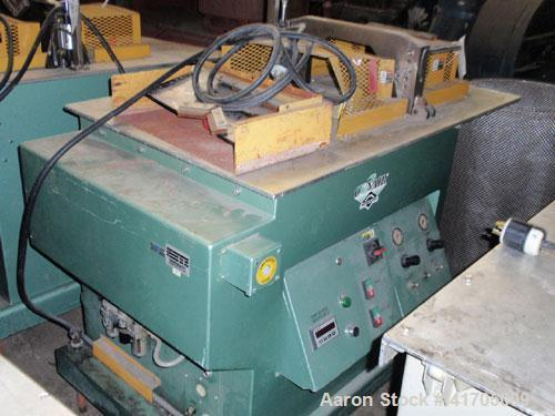 "Used- Conair Metaplast Traveling Cut Off Saw, Model MST-6. Up acting blade, 15.5"" traveling table. Top hold down. Pipe capac..."