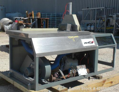 Used- Crown Traveling Cut Off Saw. Approximate 18'' diameter upacting blade, maximum cutting width 9'', maximum cutting heig...