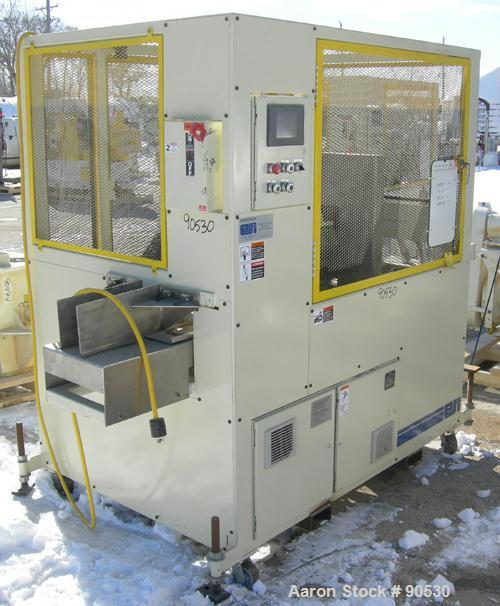 """Used: Extrusion Services Inc. traveling saw, model Servo Boost. Approximately 16"""" diameter down acting blade, driven by a 3h..."""