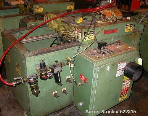 """USED: Goodman model VE3339 saw. Upacting design. Unit has approx5"""" blade. Mfg 1994. Unit has approximate 10"""" travel."""