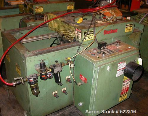 """USED: Goodman model VE3339 saw. Upacting design. Unit has approx 5""""blade. Mfg 1994. Unit has approximate 10"""" travel."""