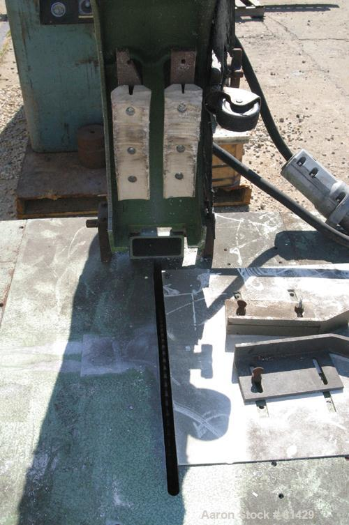 "USED: IDE cutoff saw, model ME52.3. (1) 12"" diameter air operatedup acting blade, driven by an approx 1/4 hp motor. Adjustab..."