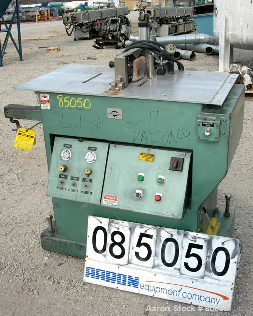 """Used- Metaplast Air Traveling Cut Off Saw, Model MST-4. 12"""" Diameter up acting blade. Traveling table. Top air operated hold..."""