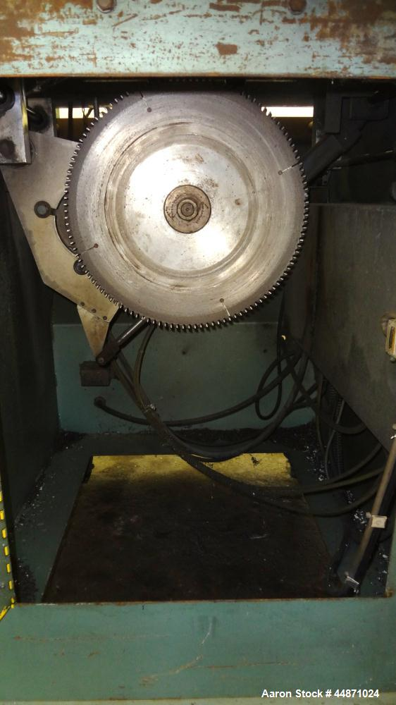 "Used- Metaplast Traveling Cut Off Saw, Model MST-6.  Approximately 18"" diameter up acting saw blade, 15.5"" traveling table, ..."