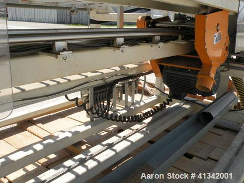 Used- Nutter Machine Traveling Cross Cut Saw, Model SH-48. Driven by an approximate 7 1/2 hp motor with an E-Trac AC inverte...