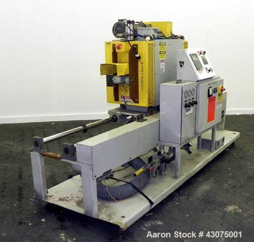 Used- PEM/Plastics Extrusion Machinery Traveling Rotary Saw, Model 730/4, Carbon Steel. Designed to cut pipe in the 1/2'' to...