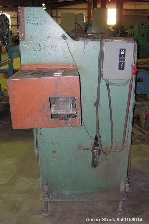 "Used- RDN Traveling Saw, Model 2418. Approximate capacity 2"" x 4"" profile, 2"" O.D. tubing. Driven by a 1 1/2 hp, 3/60/208-23..."