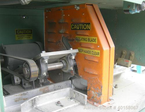 "Used- RDN Traveling Saw, model 2418. Approximate capacity 2"" x 4"" profile, 2"" O.D. tubing. Driven by a 1 1/2 hp, 3/60/460 vo..."