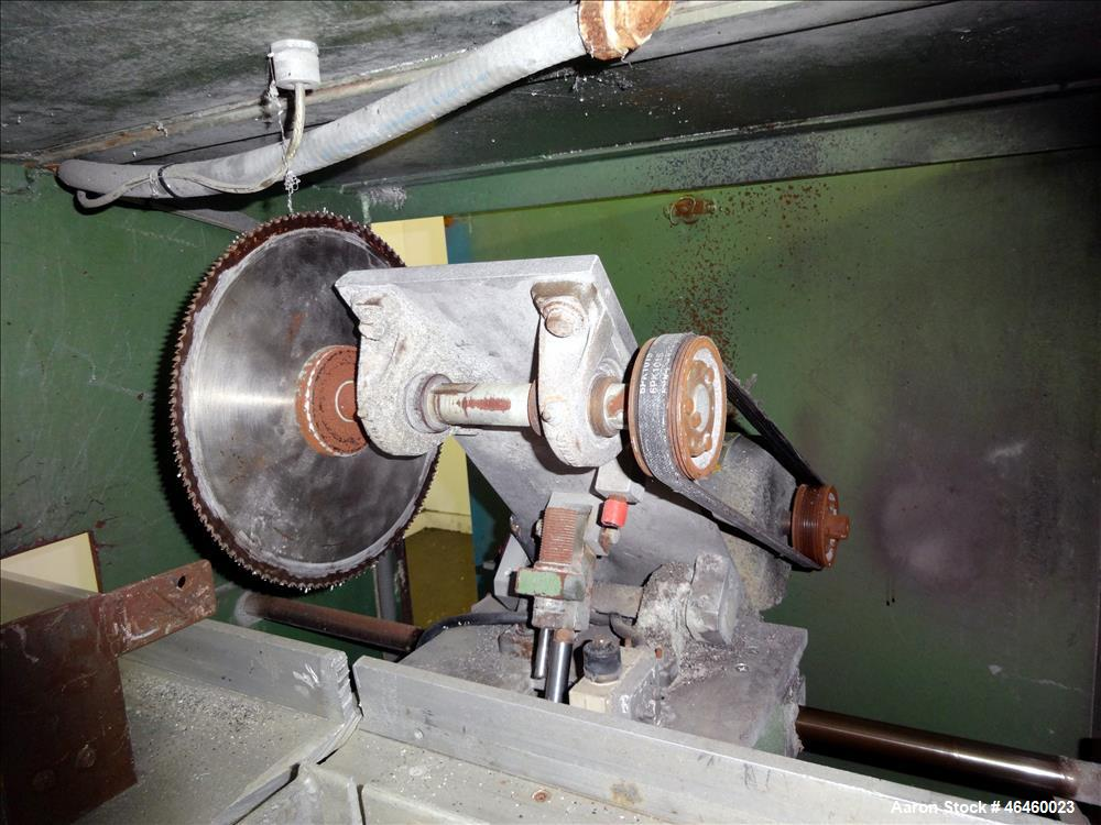 "Used- RDN Chop-Cut Traveling Saw, Model 2418. Cutting capacity 2"" high x 4"" wide (2"" tube). Maximum 25 cuts per minute, 10"" ..."