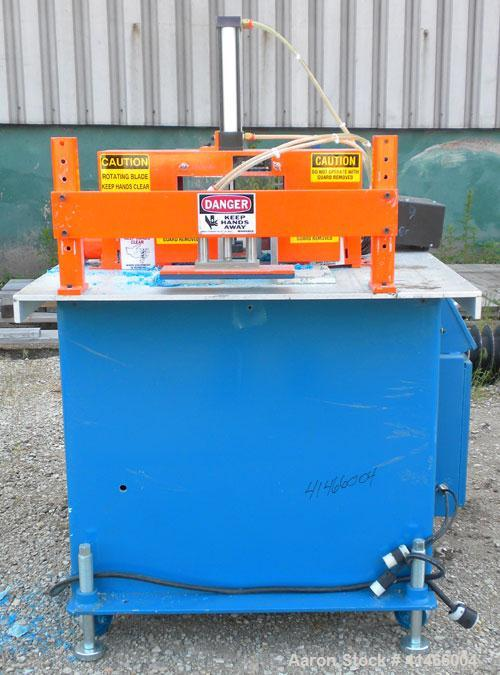 "Used- RDN Traveling Up Acting Cut Off Saw, Model 9-18A. 9'' O.D. cutting capacity, up to 15 cuts per minute, approximate 24""..."
