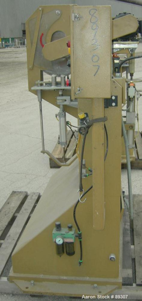 "Used- Royal Machine Traveling Cut Off Chop Saw, Model 101. Approximate 14"" diameter blade, pneumatically adjustable hold dow..."