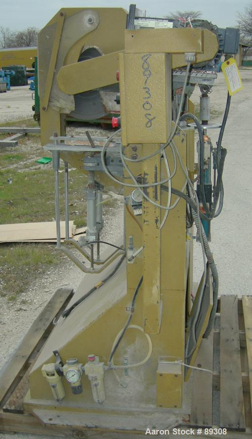 """Used- Royal Machine Traveling Cut Off Chop Saw, Model 101. Approximate 14"""" diameter blade, pneumatically adjustable hold dow..."""