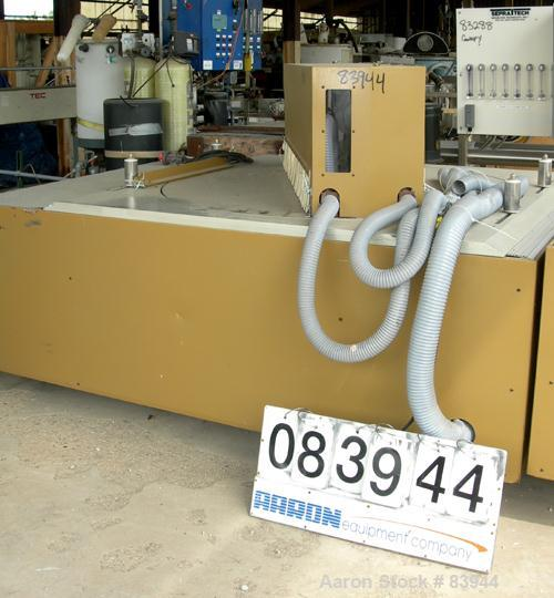 USED: Royal model 384 upacting traveling miter saw. Pneumatic hold down and vacuum.