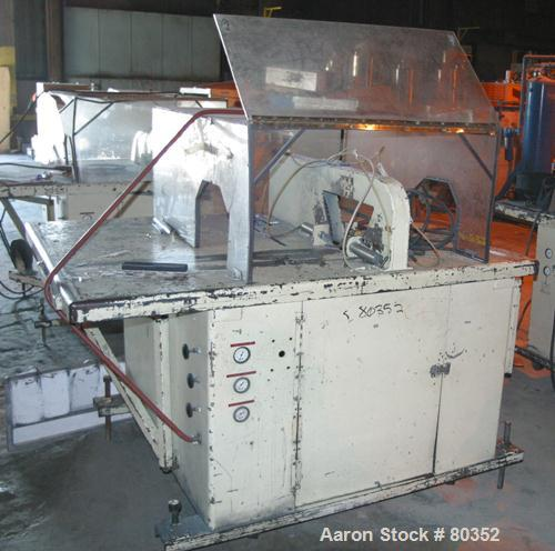 "USED: Sakas table saw, model SP8. 24"" diameter saw blade. Unit can accept up to 7"" wide x 6"" tall product. Saw driven by 5 h..."