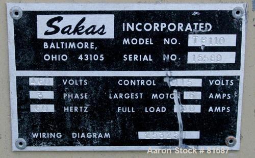 Used: Sakas table saw, model TS110
