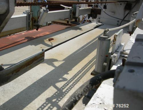 "Used- Sakas Traveling Cut-Off Saw, Model S60. 60"" Wide travel, approximate 2' of machine direction travel. Equipped with pne..."