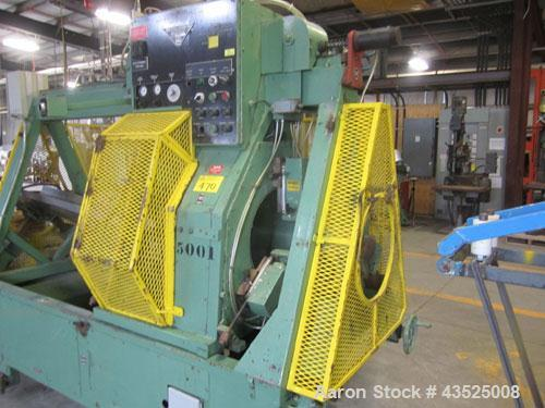 """Used- White & Street Traveling Run Around Saw, Model 089220. Capacity up to 15"""" diameter pipe, 60"""" travel, with on board con..."""