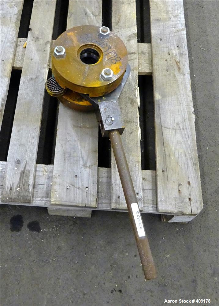 "Used-Manual Screen Changer, Approximate 2-1/2"" diameter."