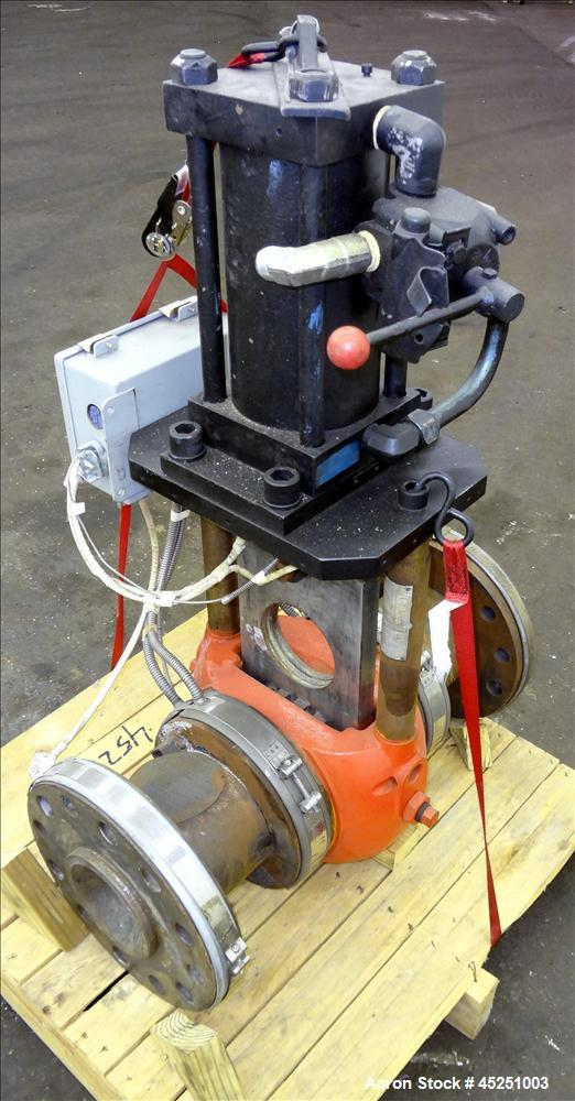 "Used- Beringer 4.5"" Hydraulically Operated Screen Changer, Model 17"