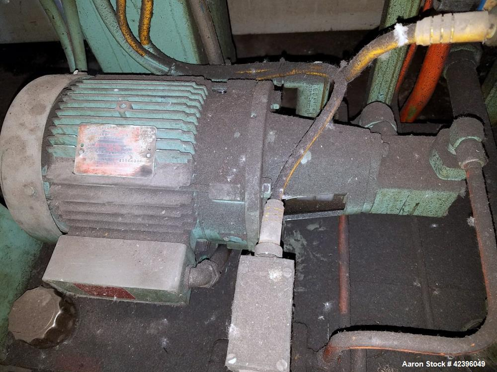 """Used- Beringer 8"""" hydraulic slide plate screen changer, model 26, dual breaker plate with 3 hp hydraulic power pack."""