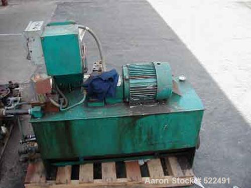 "USED: Beringer screen changer model NC/PVC45. 4.5"" screen changer,3 hp TEFC hydraulic pump 230/460 volt."