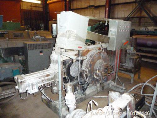 "Used-Beringer Model SPC1500 Hydraulic Slide Plate Screen Changer having two nominal 15"" diameter breaker plates.  Unit mount..."