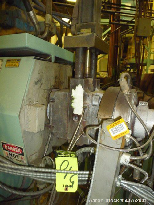 """Used- Beringer 3-1/2"""" Hydraulic Slide Plate Screen Changer. No power pack. Last used on an Egan 3-1/2"""" extruder."""