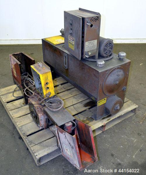 "Used- Beringer 3-1/2"" Diameter Hydraulic Screen Changer. Includes a model HP NVL power pack, serial# 76142.  Driven by a 2hp..."
