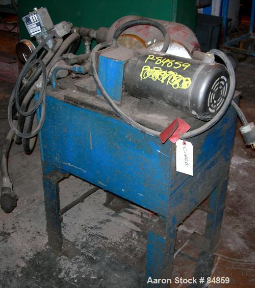 "USED- Beringer Hydraulic Screen Changer, 6"". Includes a 3 HP powerpack."