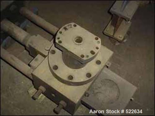 "USED: 6"" Berlyn hydraulic screen changer, model BCM6000, slide gate type. (2) 6"" breaker plates, complete with 2 hp hydrauli..."
