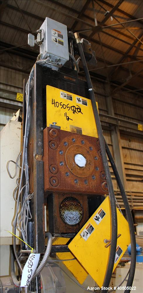 Used-Dynisco hydraulic screen changer, model EH-60, serial# EH60296, no power pack.