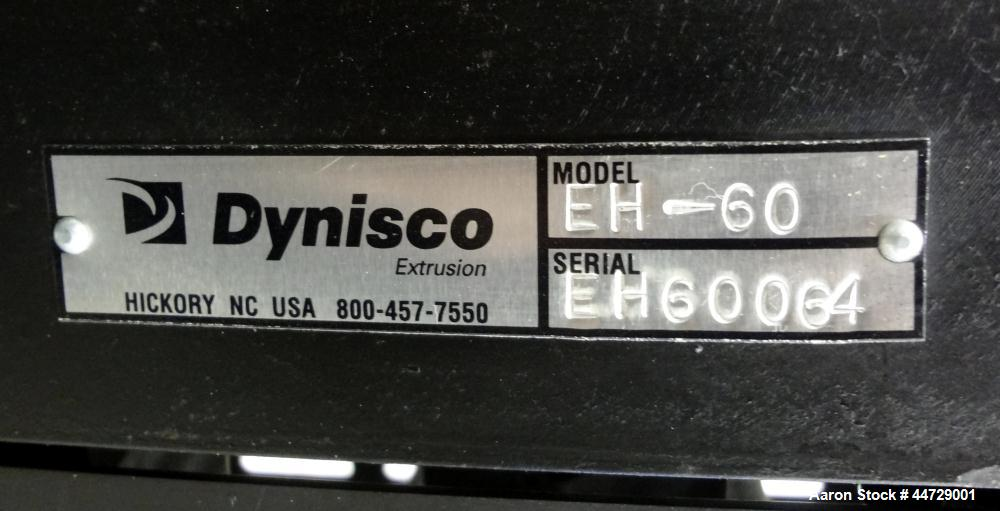 "Unused- Dynisco 6"" Hydraulic Slide Plate Screen Changer, Model EH-60.  Horizontal opposite mounting postion. Body heater 800..."