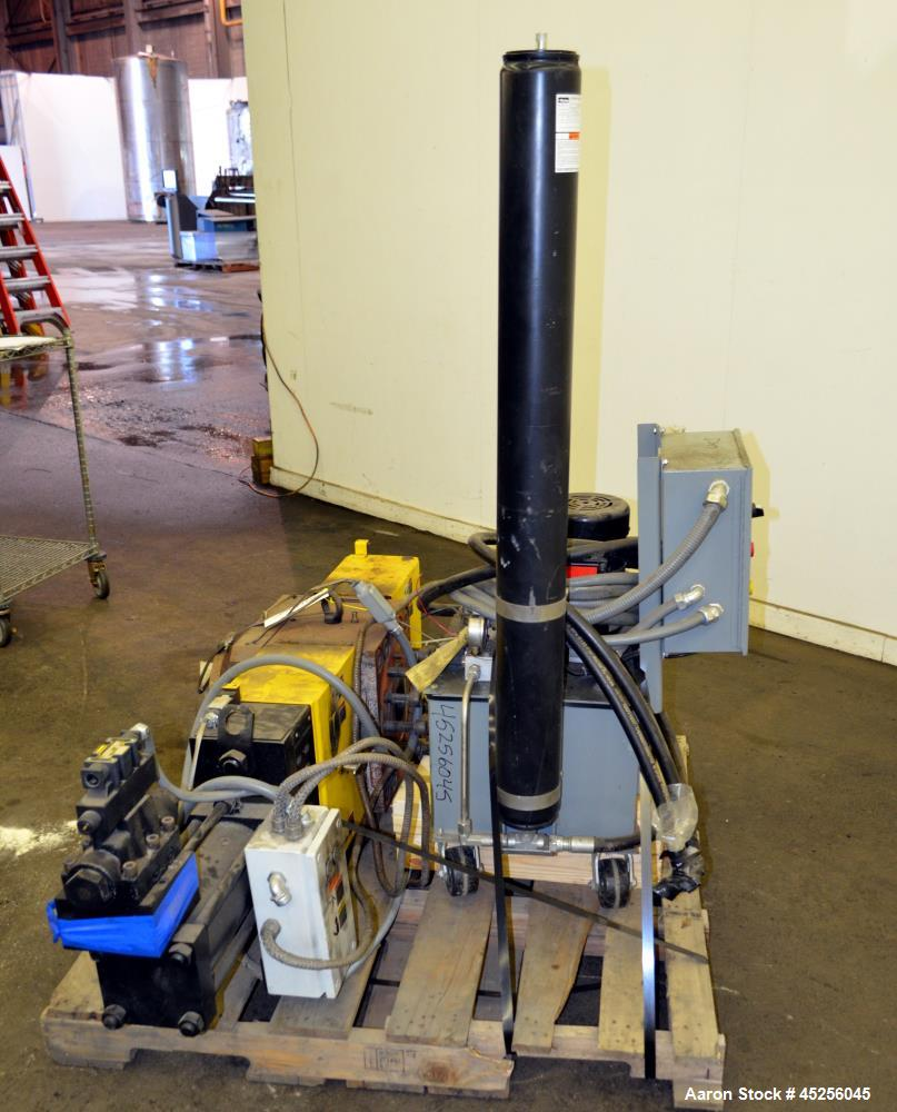 """Used- Dynisco Xaloy 6"""" Hydraulic Screen Changer, Model EH-60. Includes a 2hp power pack. Serial# EH60773."""