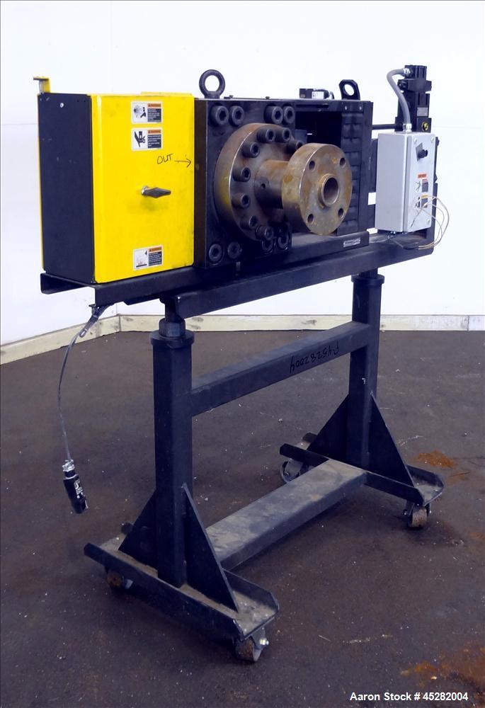 "Used- Dynisco 6"" Hydraulic Slide Plate Screen Changer, Model EH-60"