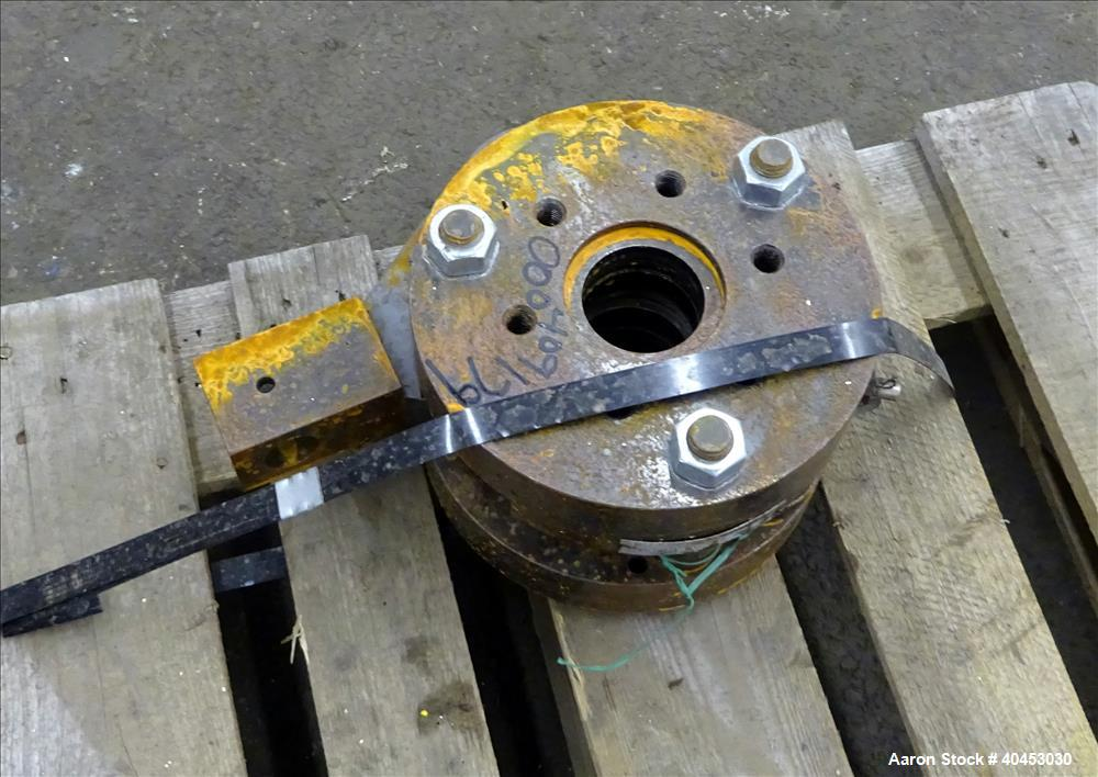 """Used- Dynisco 2-1/2"""" Manual Screen Changer."""