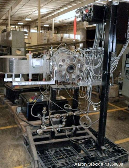 """Used- Key Technology 6"""" Diameter Continuous Screen Changer, Model KLN 6.0. Includes a control panel. Built 2002."""
