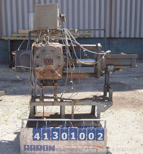 "Used- 8"" Hydraulic Screen Changer.  Mounted on a carbon steel base.  Requires a power pack."